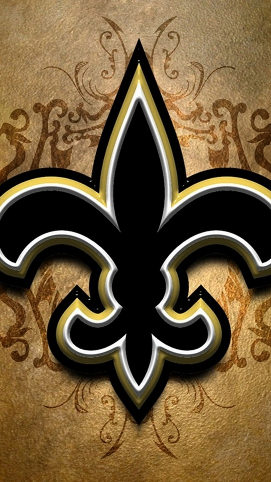 New Orleans Saints iPhone Screensaver with high-resolution 1080x1920 pixel. Donwload and set as wallpaper for your iPhone X, iPhone XS home screen backgrounds, XS Max, XR, iPhone8 lock screen wallpaper, iPhone 7, 6, SE and other mobile devices